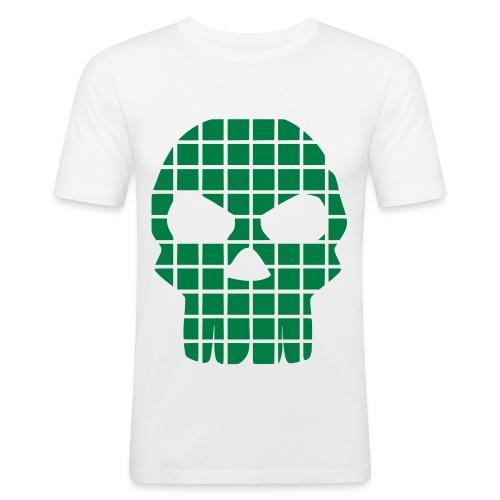 Skull green - T-shirt près du corps Homme