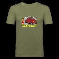 Tee shirts ~ Tee shirt près du corps Homme ~ CARBUREX 4cv Rouge