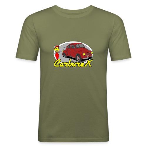 CARBUREX 4cv Rouge - T-shirt près du corps Homme