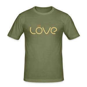 LÖVE T-Shirt Brown - Men's Slim Fit T-Shirt