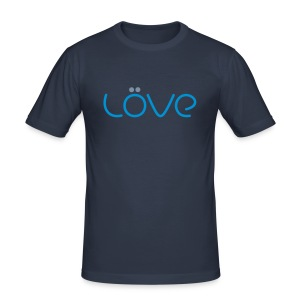 LÖVE T-Shirt Blue - Men's Slim Fit T-Shirt