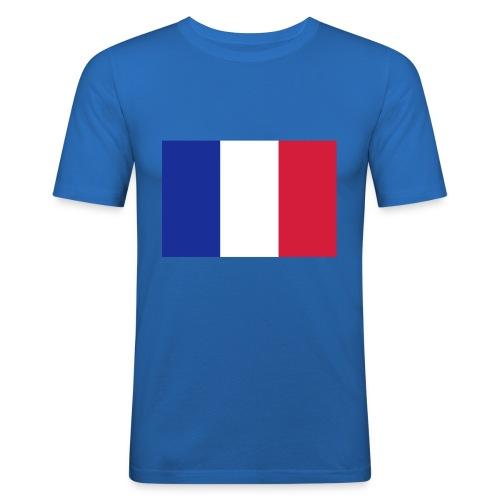 T shirt rugby drapeau français - T-shirt près du corps Homme