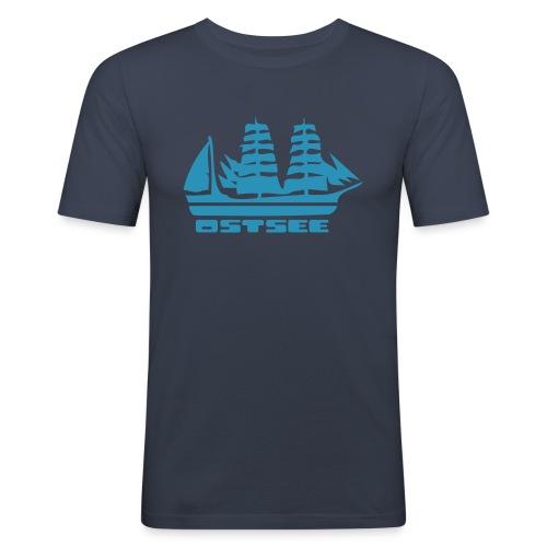 Ostsee Segelschiff T-Shirt  - Männer Slim Fit T-Shirt