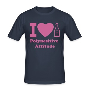 I LOVE CHAMPAGNE polynesitive attitude - Men's Slim Fit T-Shirt