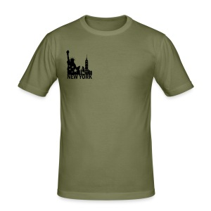 New York Deluxe Skyline - Männer Slim Fit T-Shirt