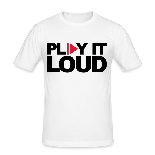 Slim Fit T-Shirt Play it loud - Männer Slim Fit T-Shirt