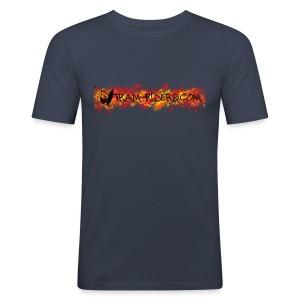 logo flamme - Tee shirt près du corps Homme