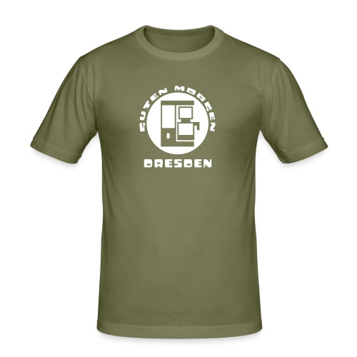Dresden Guten Morgen Kaffee T-Shirt - Männer Slim Fit T-Shirt
