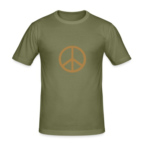Love Nature and Peace Shirt Men - Männer Slim Fit T-Shirt