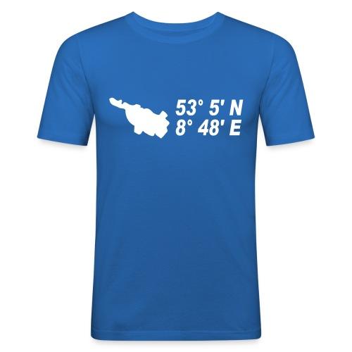 Bremen Koodinaten T-Shirt - Männer Slim Fit T-Shirt