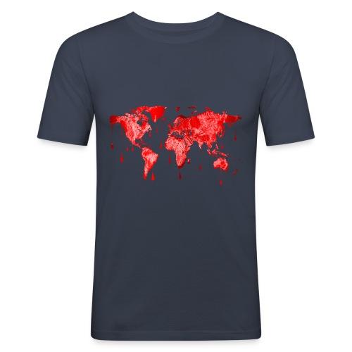 monde en sang - T-shirt près du corps Homme