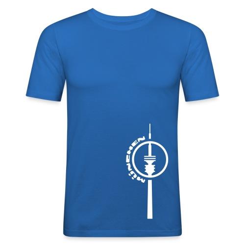München Fernsehturm T-Shirt - Männer Slim Fit T-Shirt