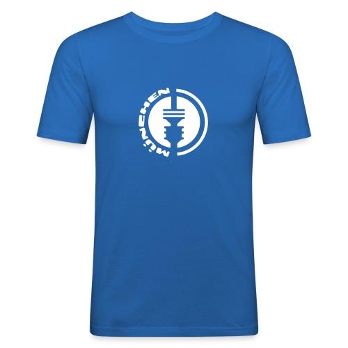 München Fernsehturm Emblem T-Shirt - Männer Slim Fit T-Shirt