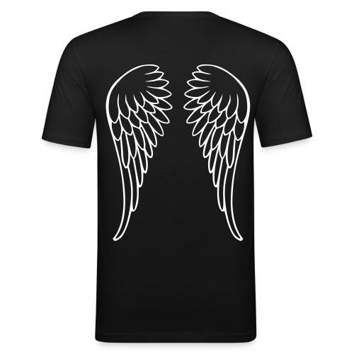 T-shirt avec ailes au dos - T-shirt près du corps Homme