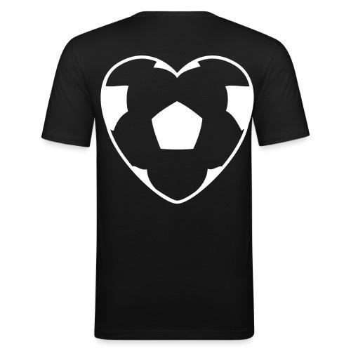 T-shirt avec ballon de foot en forme de coeur au dos - T-shirt près du corps Homme