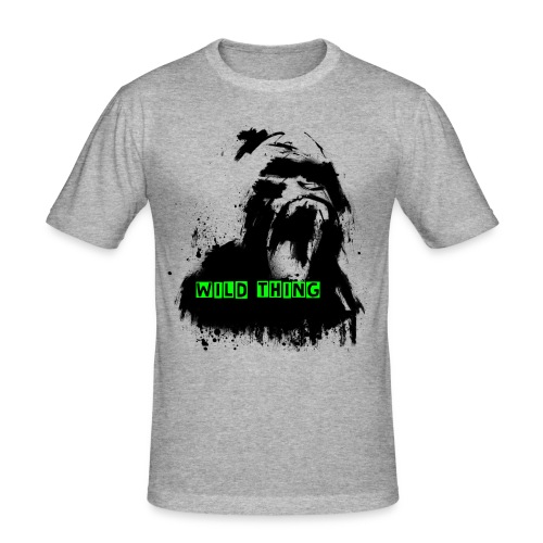 // WILD THING // GORILLA // - Männer Slim Fit T-Shirt
