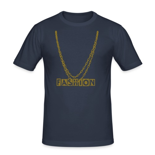 double fashion collier gold - T-shirt près du corps Homme