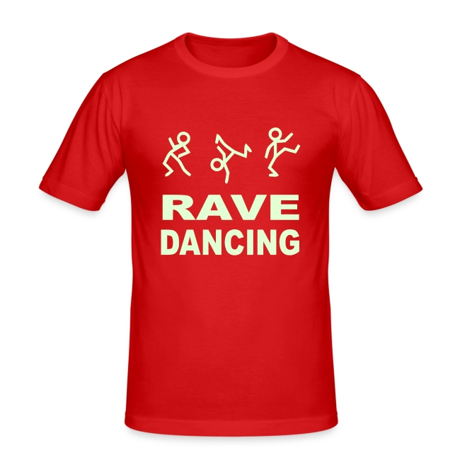 Raving Dancing Stick Men. Glow in the dark print