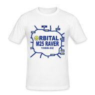 T-Shirts ~ Men's Slim Fit T-Shirt ~ Oribital M25 Acid House Raver T-shirt