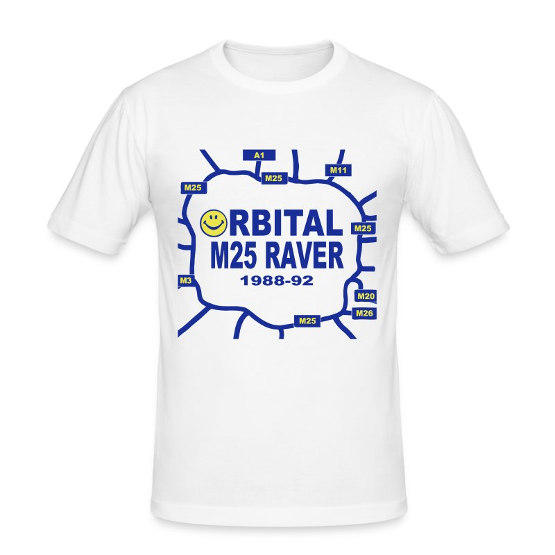 Oribital M25 Acid House Raver T-shirt - Men's Slim Fit T-Shirt