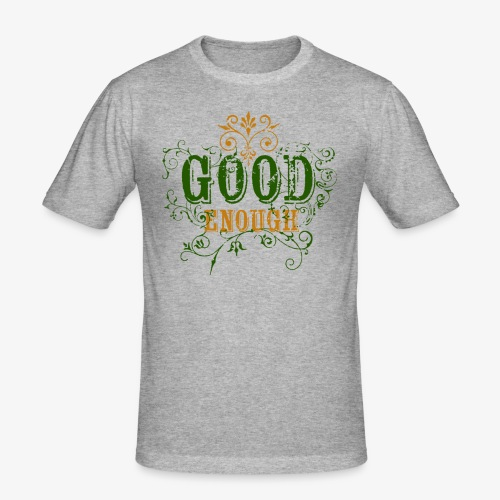 Good Enough Grön/Gul - Slim Fit T-shirt herr