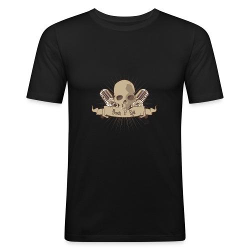 Männer Slim Fit T-Shirt - Brocken,Rock,Roll