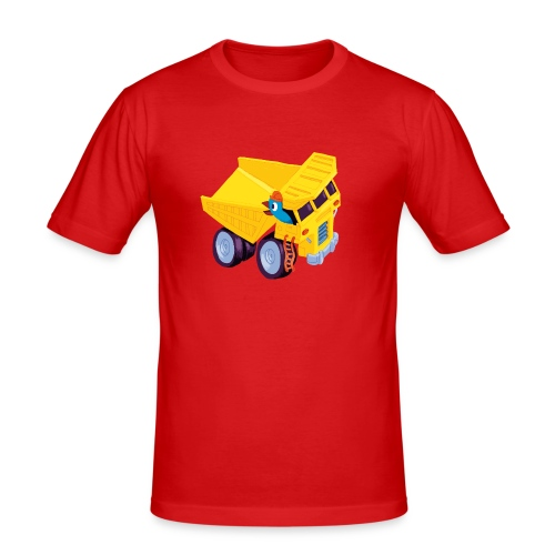 Männer Slim Fit T-Shirt - Motiv aus Lomp's Auto Wimmelbuch