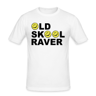 T-Shirts ~ Men's Slim Fit T-Shirt ~ Old Skool rave T-shirt