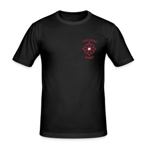 T-shirt rouge Toulouse Rugby V2 - Tee shirt près du corps Homme