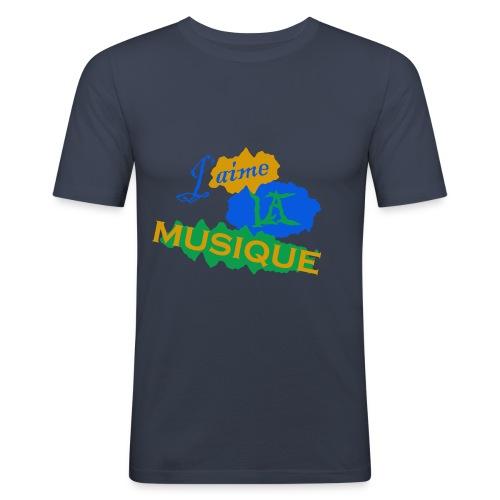 J'aime la musique - Tee shirt près du corps Homme