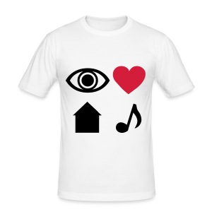I Love House Music Tee - Men's Slim Fit T-Shirt