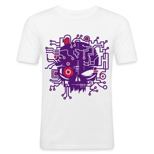 Cyber Skull - Men's Slim Fit T-Shirt