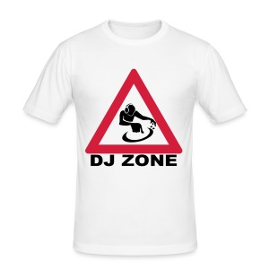 Warning DJ Zone t-shirt - Men's Slim Fit T-Shirt