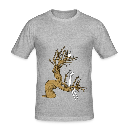 T-shirt Uomo. Gabbia d'albero - Maglietta aderente da uomo