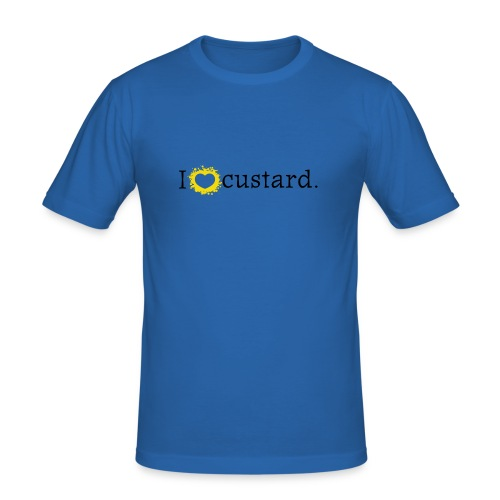 I love custard men's slim t-shirt - Men's Slim Fit T-Shirt