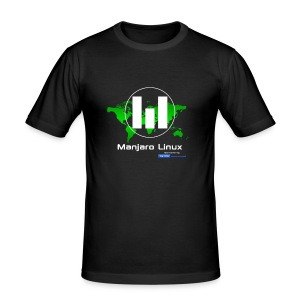 Manjaro Linux sponsor special - slim T-Shirt - Men's Slim Fit T-Shirt