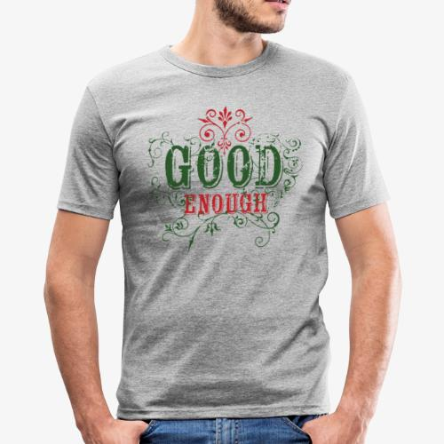 Good Enough Grön/Röd - Slim Fit T-shirt herr