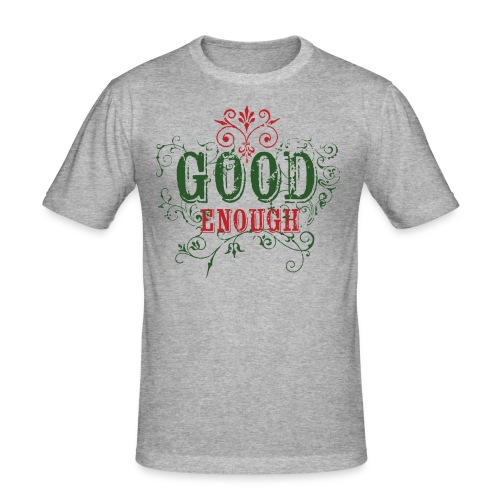Good Enough Grön/Röd - Slim Fit T-shirt herr