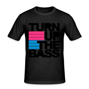 Turn up the BASS - Men's Slim Fit T-Shirt