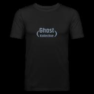T-Shirts ~ Men's Slim Fit T-Shirt ~ Simple guy's t' with silver flex logo