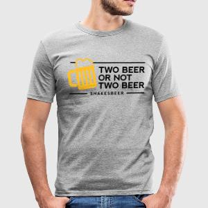 Two Beer Shakesbeer 1 (2c)++ T-Shirts - Men's Slim Fit T-Shirt