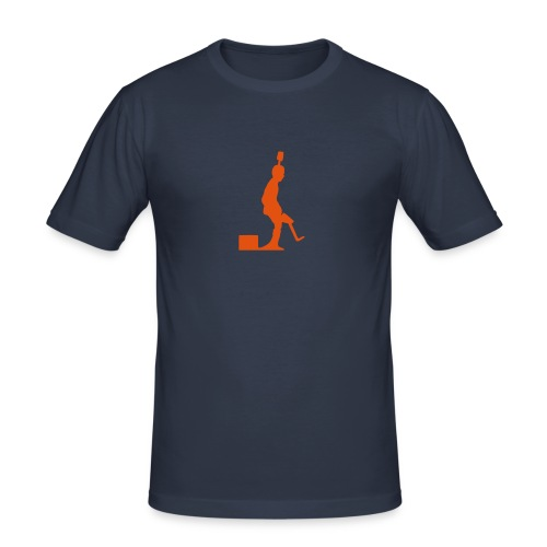 Pro Kicker (orange) - Männer Slim Fit T-Shirt