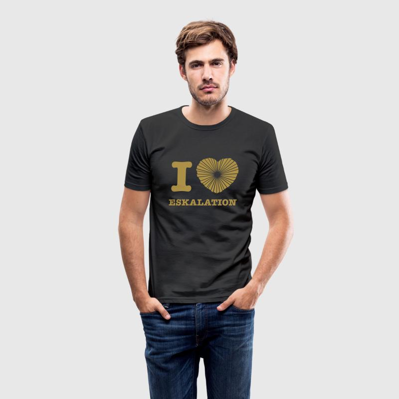I LOVE ESKALATION T-Shirt - Männer Slim Fit T-Shirt