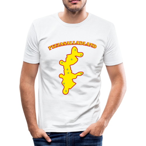T-shirt Slim Fit, Pizzasalladland - Slim Fit T-shirt herr