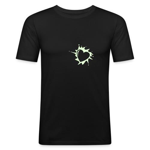Explosion du coeur (phosphorescent) - T-shirt près du corps Homme