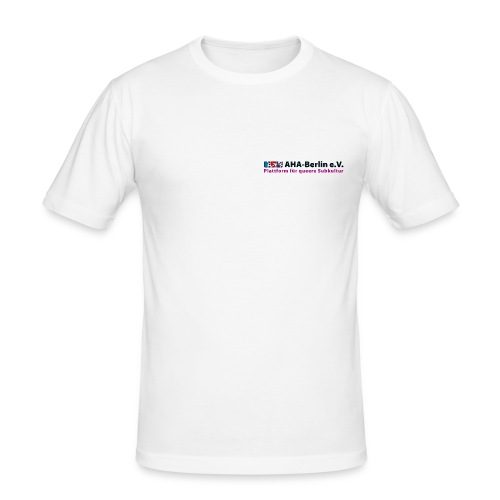AHA-Slim-Fit-Shirt (weiß) - Männer Slim Fit T-Shirt