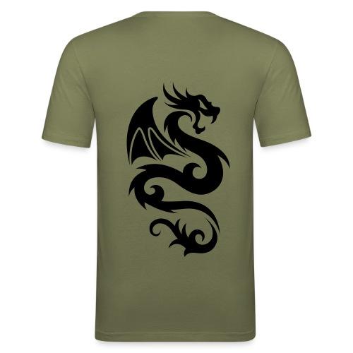 Drache Tribal - Männer Slim Fit T-Shirt