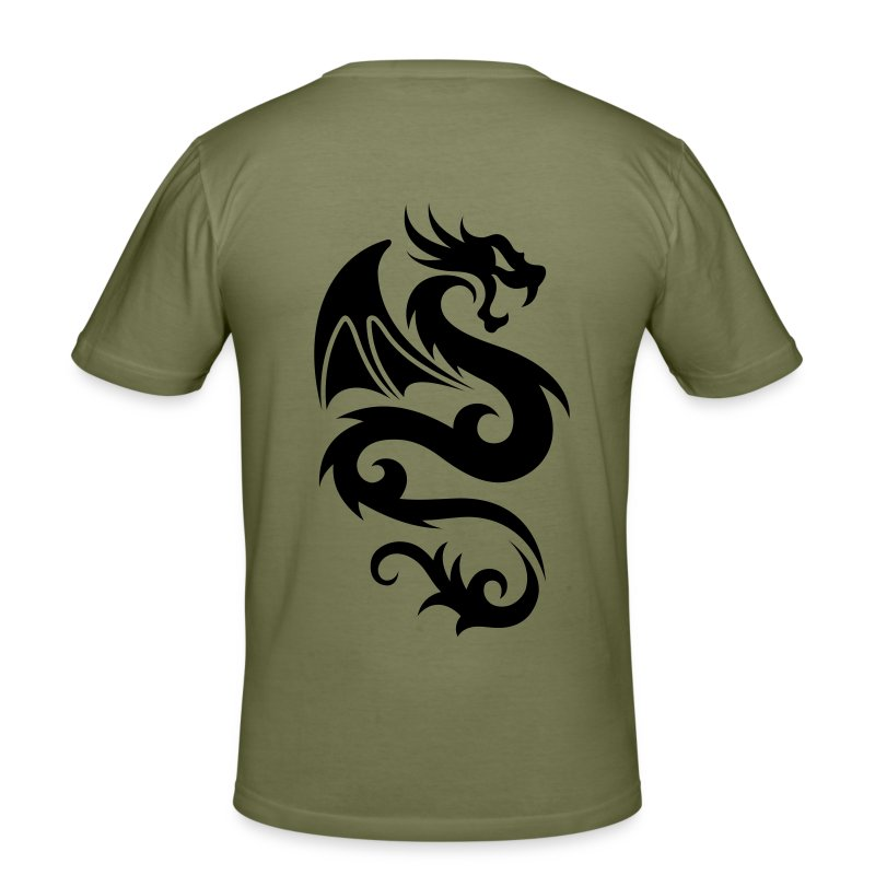 Drache Tribal - Männer Slim Fit T-Shirt