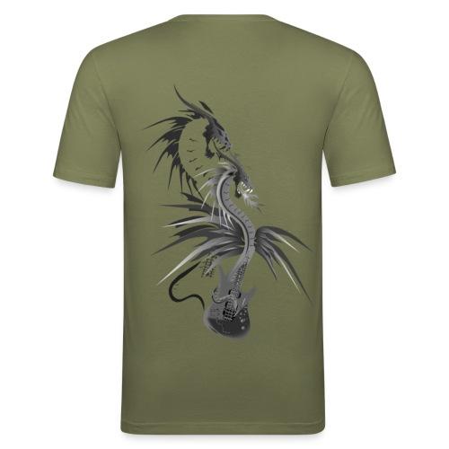 Guitar Dragon - Männer Slim Fit T-Shirt