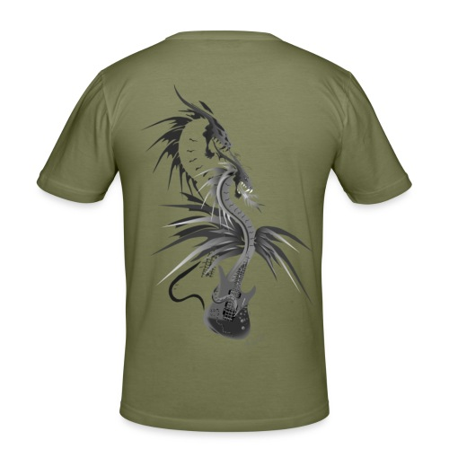 Guitar Dragon - Männer Slim Fit T-Shirt